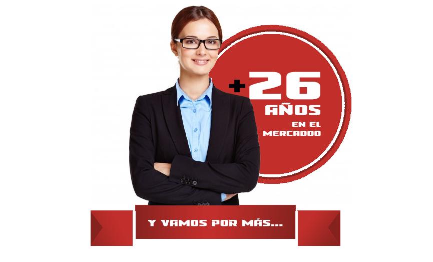 + 26 AÑOS EN EL MERCADO